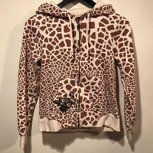 VOLCOM Zip-Up Giraffe Print Hoodie 🦒